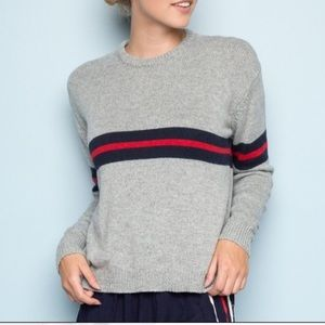 grey brandy melville sweater with stripes